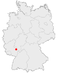 Abbildung: Deutschlandkarte, Mannheim