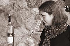 Abbildung: Katrin auf ihrem Weingut