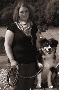Abbildung: Katrin mit ihrem Hund Luke