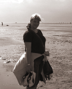 Abbildung: Klaudia am Strand