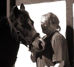 Abbildung; Klaudia mit Ponie