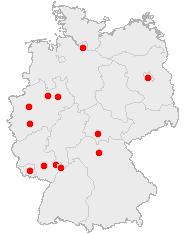 Abbildung: Deutschlandkarte, Welt-Stoma-Tag